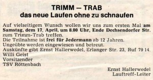 Mitteilungsblatt Röttenbach 16.04.1982
