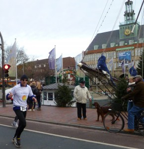 Zielgerade vor dem Rathaus am Delft