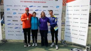 Unsere erfolgreiche Staffel: Norbert, Birgit, Christine und Georg